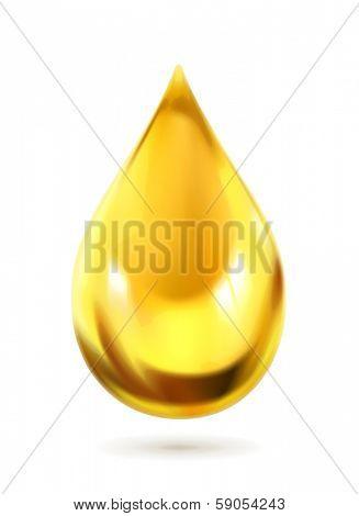 Oil drop, vector icon