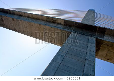 Suspension Bridge Tower And Deck