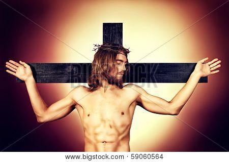 Jesus Christ of Nazareth on the cross.