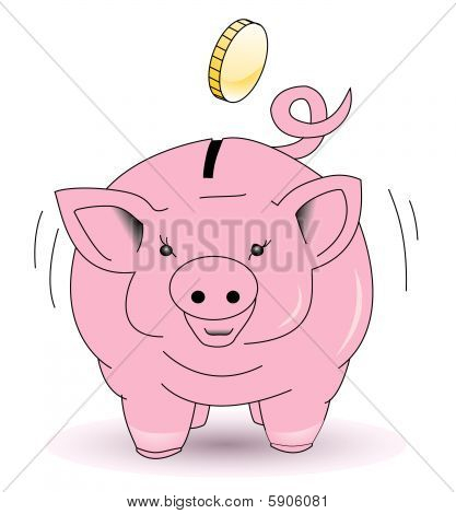 Piggy bank collect coins