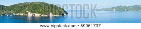 Lefkada Coast Summer Panorama (greece)