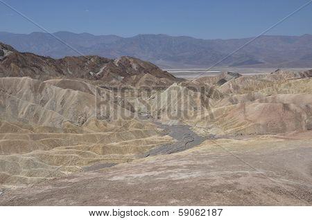 Zabriskie Point, Death Valley,california, Usa
