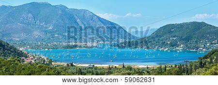 Many Sailing Vessels In Bay (nydri, Lefkada, Greece)