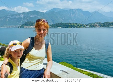 Lake Como And Family