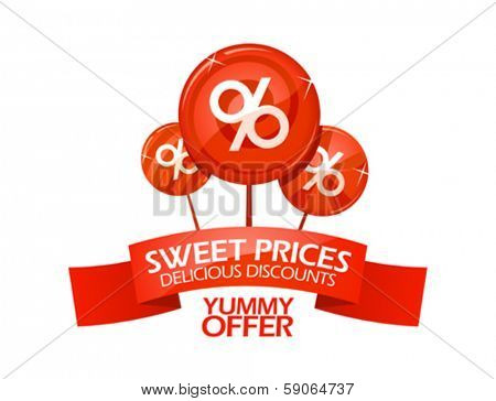 Yummy offer sale design template.