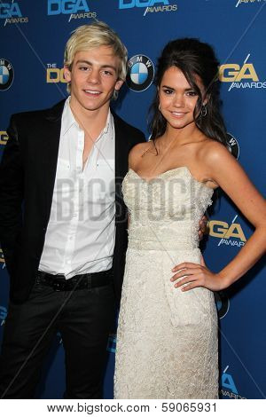 LOS ANGELES - JAN 25:  Ross Lynch, Maia Mitchell at the 66th Annual Directors Guild of America Awards at Century Plaza Hotel on January 25, 2014 in Century City, CA
