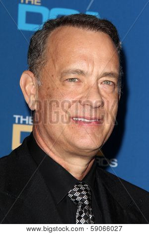 LOS ANGELES - JAN 25:  Tom Hanks at the 66th Annual Directors Guild of America Awards - Press Room at Century Plaza Hotel on January 25, 2014 in Century City, CA
