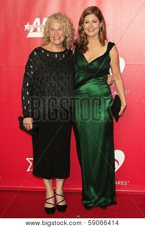 LOS ANGELES - JAN 24: Carole King, Louise Goffin at the 2014 MusiCares Person Of The Year event at the Convention Center on January 24, 2014 in Los Angeles, CA
