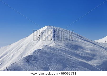 Off Piste Slope At Sun Day