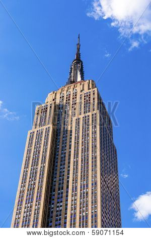 Empire State Building In The Afternoon With Metal Antenna And Lightning Arrester