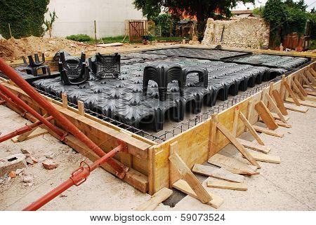 House Foundation With Radon Iglus