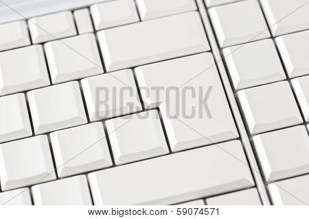 Blank White Keys On A Computer Keyboard