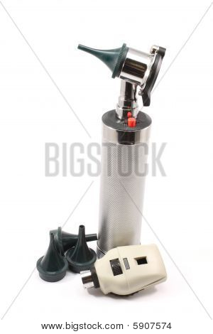 Upright Otoscope And Accessories