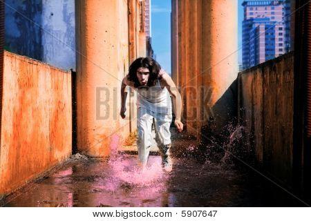 Man Runs On The Water