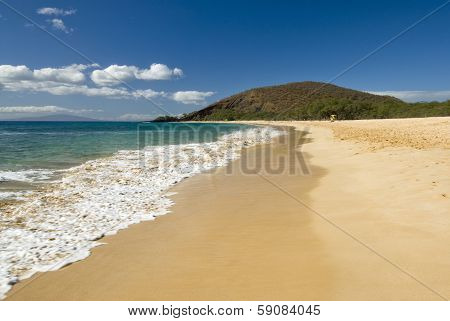 """Makena Beach, also known as """"Big Beach,"""" is one of the largest beaches in Maui , Hawaii"""