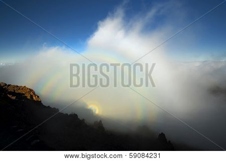 Optical phenomenon, Haleakala National Park, Maui, Ha