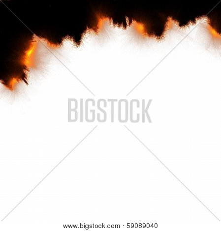Burning Paper Background
