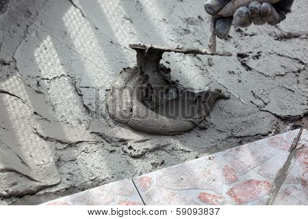 Trowel And Cement