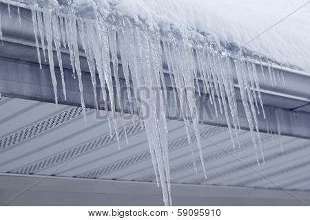 Icicles From Gutter