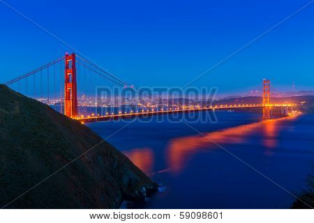 Golden Gate Bridge San Francisco sunset California USA