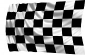 Illustration of racing flag waving in the wind (see more other flags in my collection)