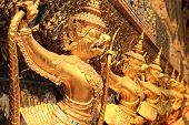 stock photo of garuda  - Garuda in Wat Phra Kaew Grand Palace of Thailand - JPG