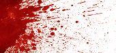 stock photo of color spot black white  - Splattered blood stain on white background - JPG