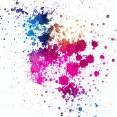 stock photo of color spot black white  - Colorful paint splatter on white background - JPG