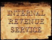 foto of irs  - Sign of Internal Revenue Service IRS for collecting taxes - JPG
