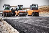 stock photo of paving  - Road Construction - JPG