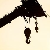 picture of crane hook  - The crane hook silhouette - JPG