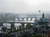 Fog Over Vltava River In Prague