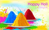image of holi  - illustration of colorful gulal  - JPG