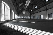 pic of attic  - an empty desolate industrial building inside attic - JPG