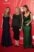 LOS ANGELES - JAN 24:  Sherry Goffin Kondor, Carole King, Louise Griffin at the 2014 MusiCares Perso