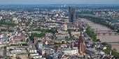 picture of frankfurt am main  - Aerial view of the city of Frankfurt am Main in Germany  - JPG
