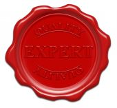 stock photo of wax seal  - quality expert  - JPG