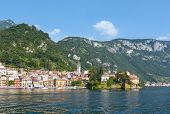 Town On Lake Como Summer Coast (italy).
