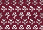 stock photo of png  - A PNG illustration of a baroque pattern - JPG