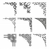 stock photo of differences  - set of ornamental corners in different style - JPG