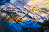 stock photo of labradorite  - Labradorite mineral background  - JPG