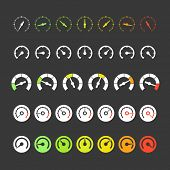 pic of speedometer  - Different phases of speedometer icons - JPG