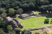 picture of atonement  - aerial view of Altun Ha maya ruins in the tropical jungle of Belize - JPG