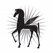 picture of pegasus  - Illustration of Pegasus the mythological flying horse - JPG