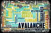 picture of avalanche  - Avalanche Snow as a Danger Concept Art - JPG