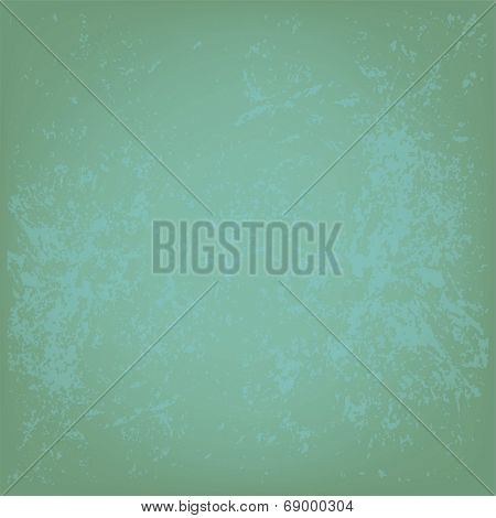 Grunge green wall background