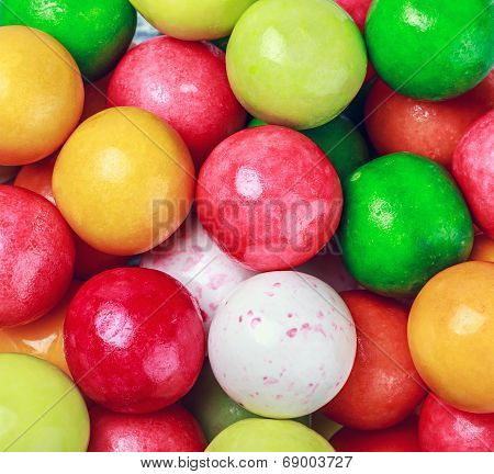 Background Of Round Colored Gum