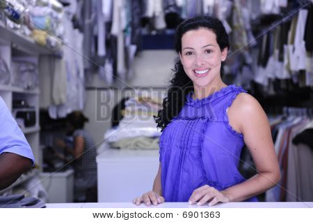 Happy Owner Of A Dry Cleaning Service