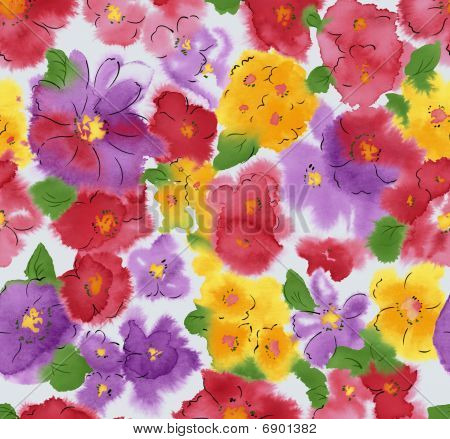 Watercolor Of Flower Background