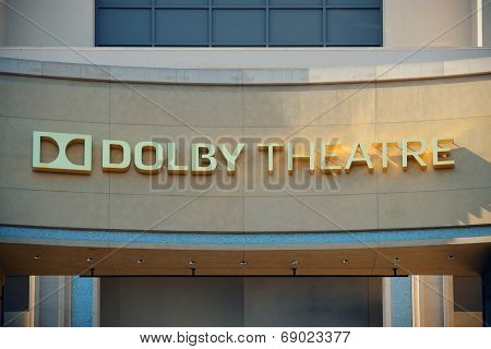 Los Angeles, CA - MAY 18: Hollywood Dolby Theatre interior on May 18, 2014 in Los Angeles. Started as a small community, it evolved into the home of world famous film industry